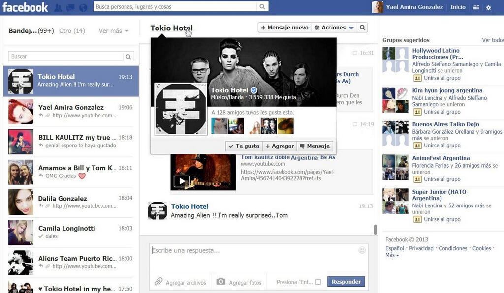 [21.10.13] Tom responde fã em mensagem pessoal no Facebook 3346005