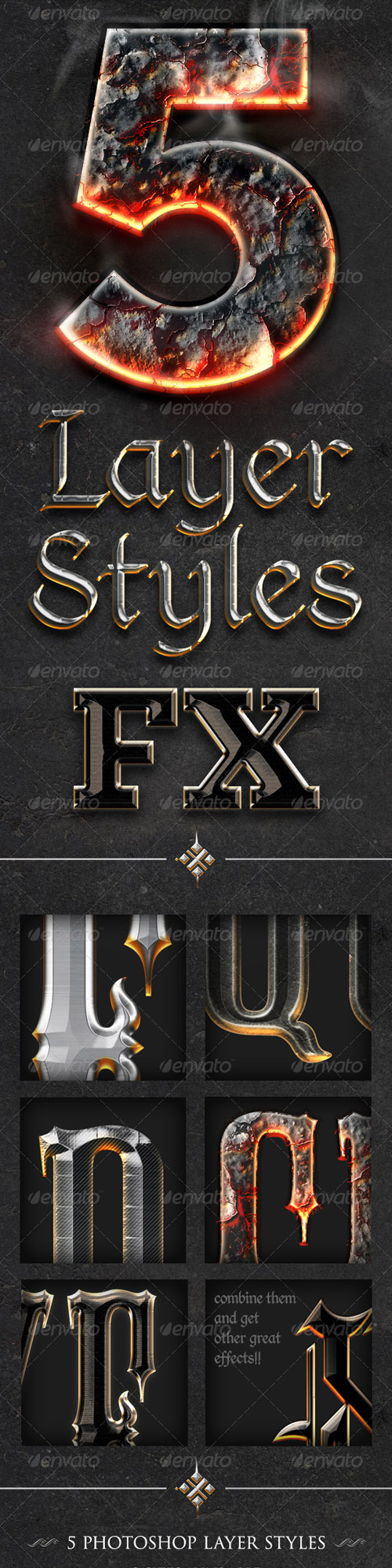 GraphicRiver - Chrome & Fire - Gothic Medieval Styles