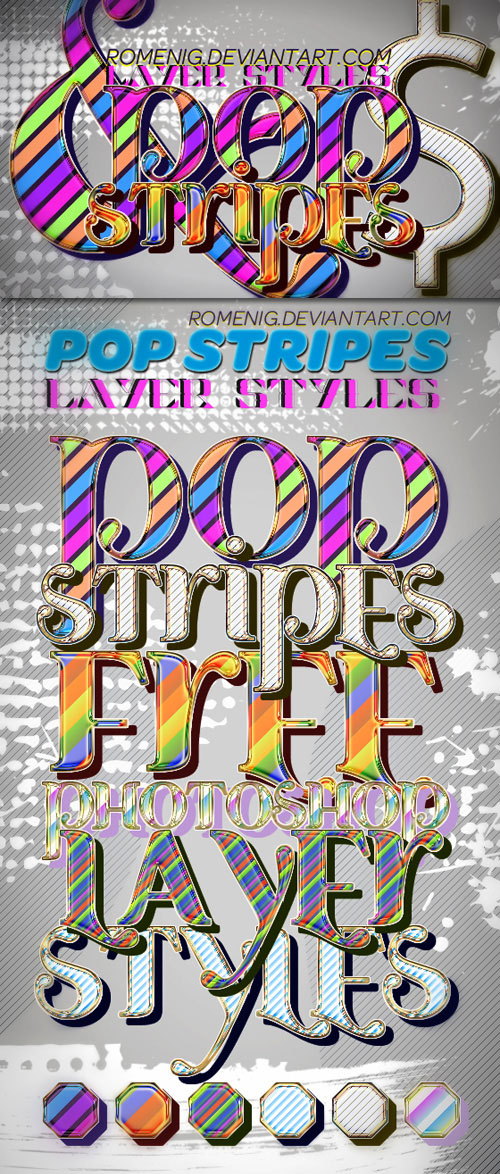 Pop Stripes Styles for Photoshop