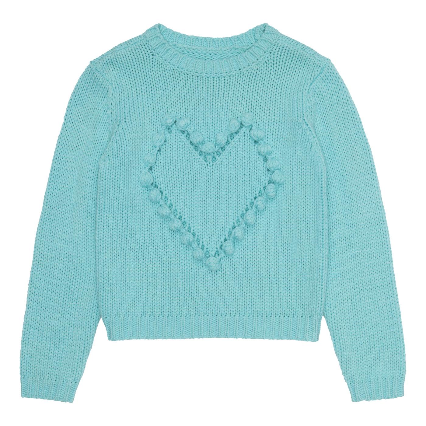 пуловер с сердечками спицами азиатская модель