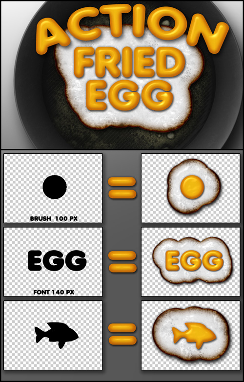 Fried Egg - Action for Photoshop