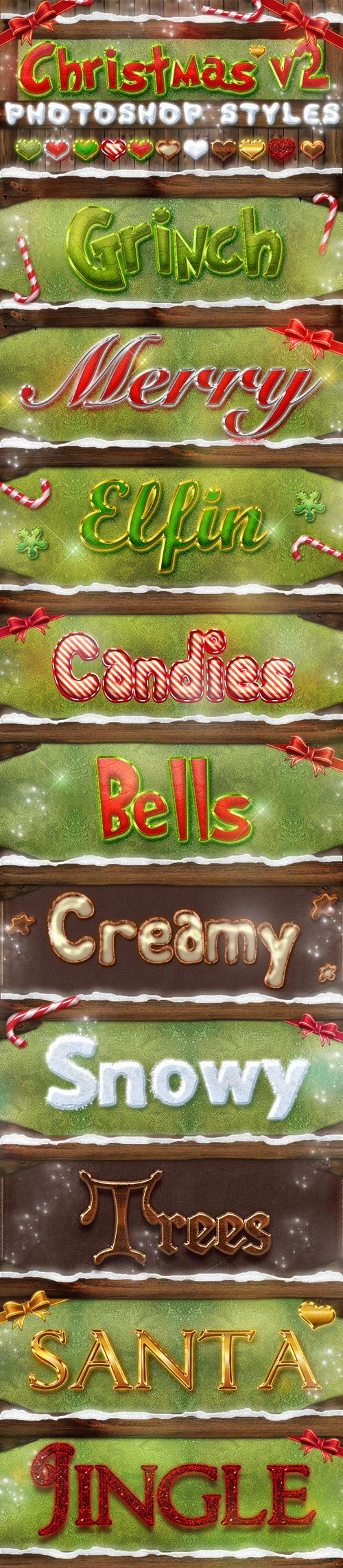 GraphicRiver - Christmas Photoshop Styles, part 2