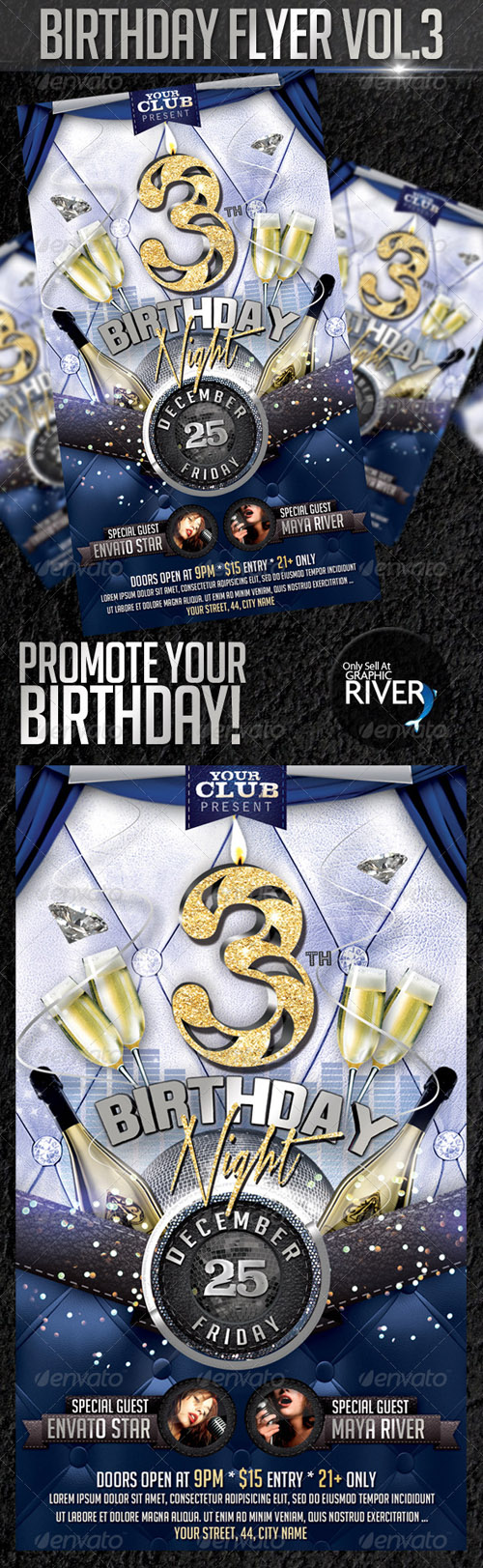 Birthday Night - Flyer PSD Template