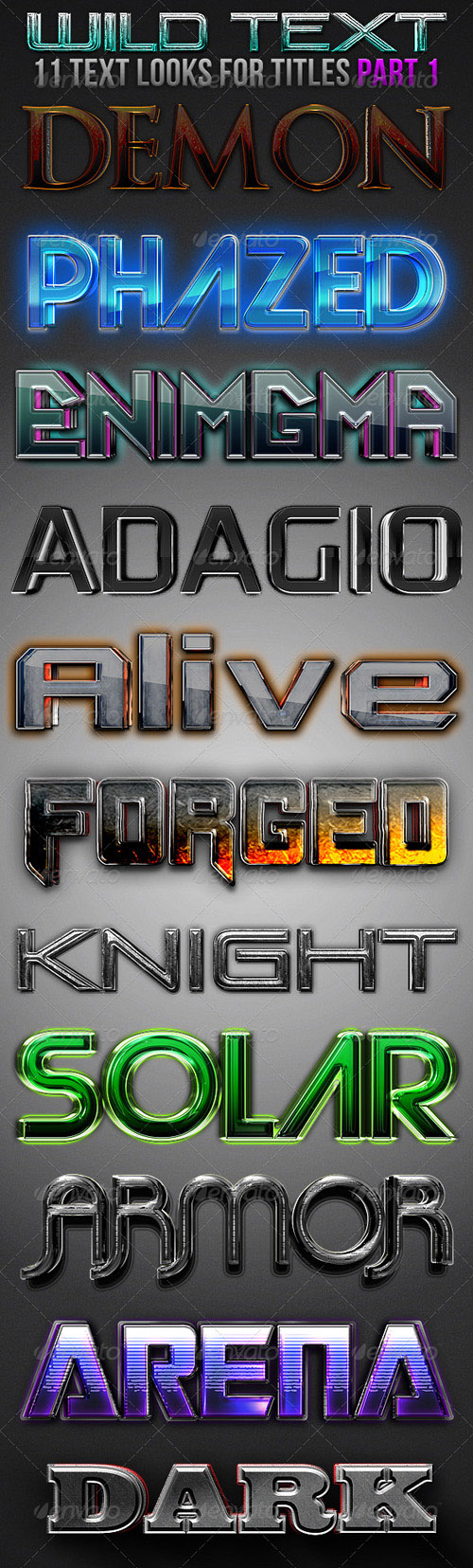 GraphicRiver - Wild Text Effects