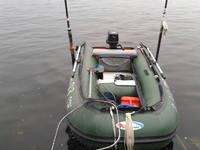 как разместить эхолот на лодке