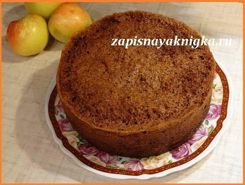 яблочный пирог с медом в мультиварке рецепт-хв5