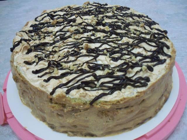 Торт воздушный сникерс пошаговое фото