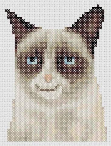 Схема вышивка кот в кармане