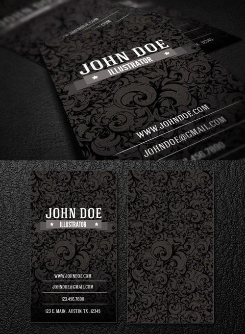 Dark Creative Business Card - PSD template