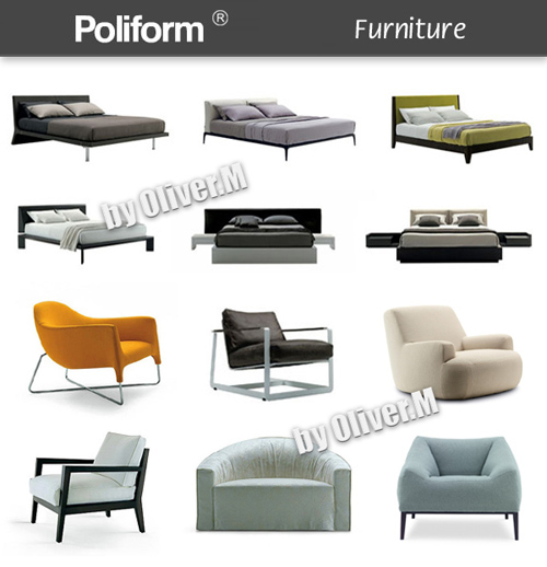 3D models of Furniture Poliform