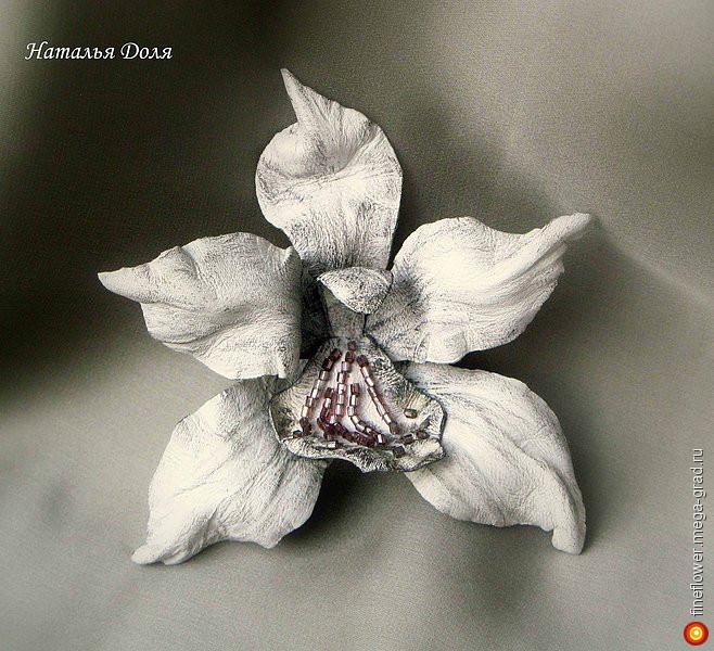 Орхидеи из кожи своими руками мастер класс 77