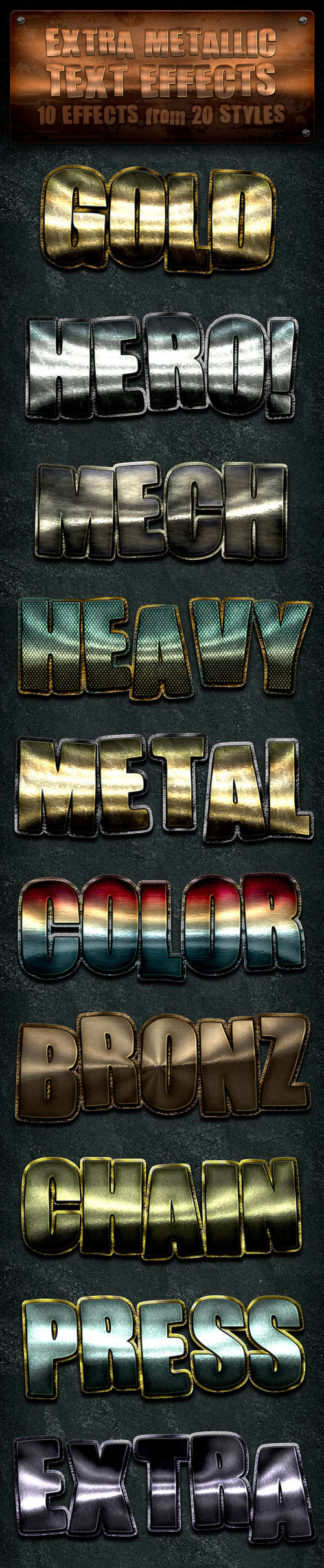 GraphicRiver - Extra Metallic Styles for Photoshop