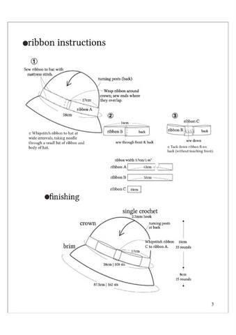 Шляпа кошка с ушками схема крючком
