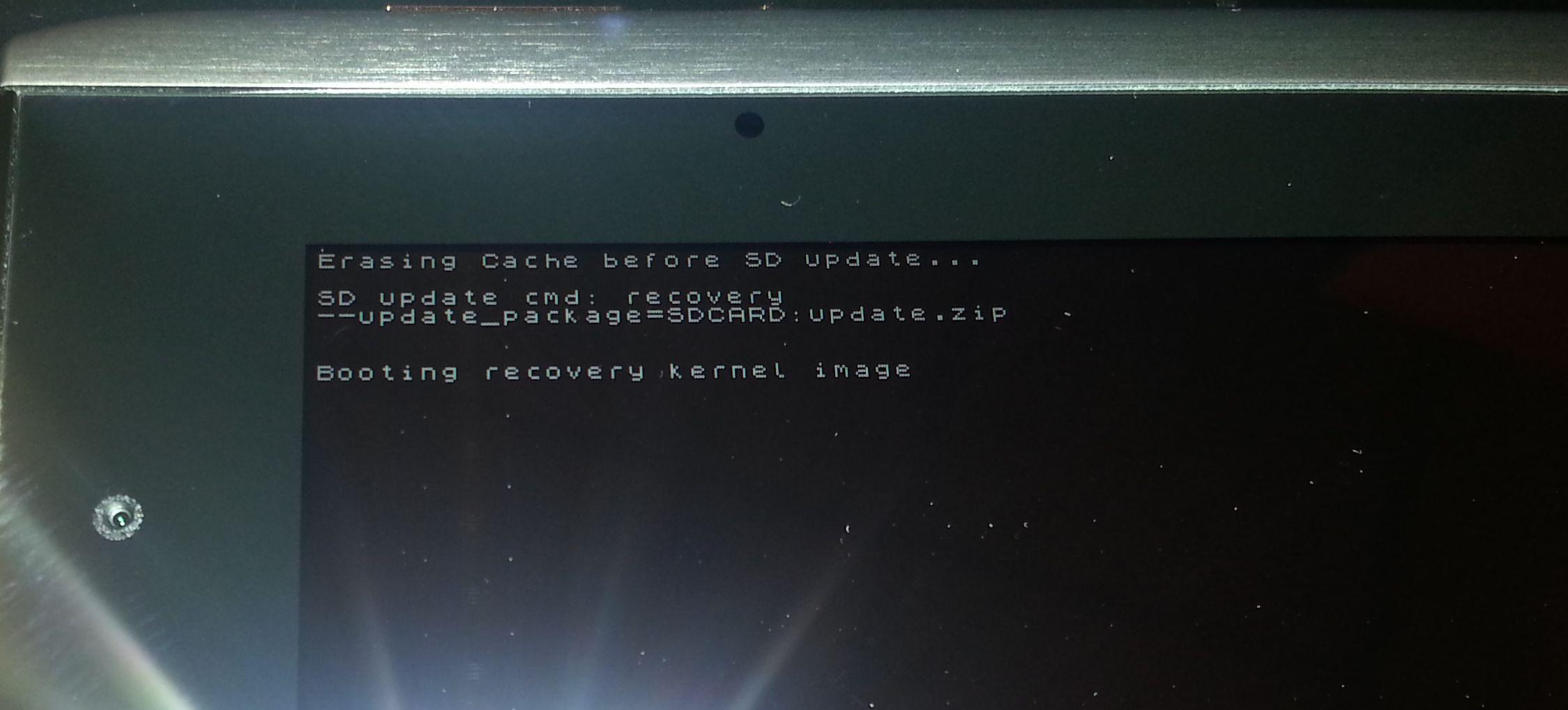 acer a501 андроид с восклицательным знаком