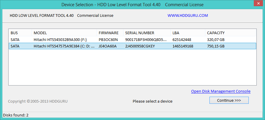 Download HDD Low Level Format Tool 4.40 + Serial …