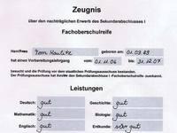 Toms grades
