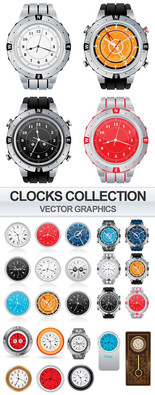 Clocks Collection - Vector