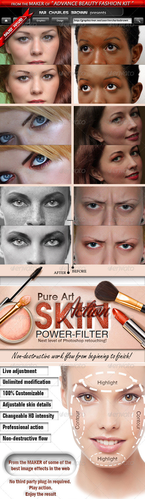 GraphicRiver - Pure Art Skin Power Filter for Photoshop