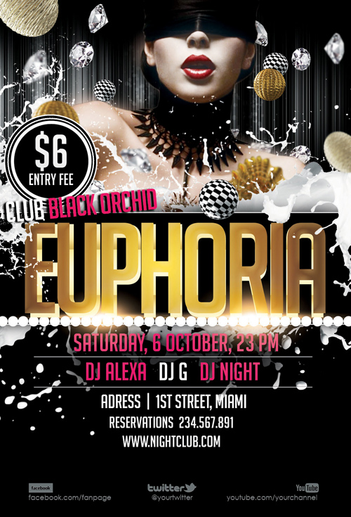 Euphoria Party - Flyer PSD Template