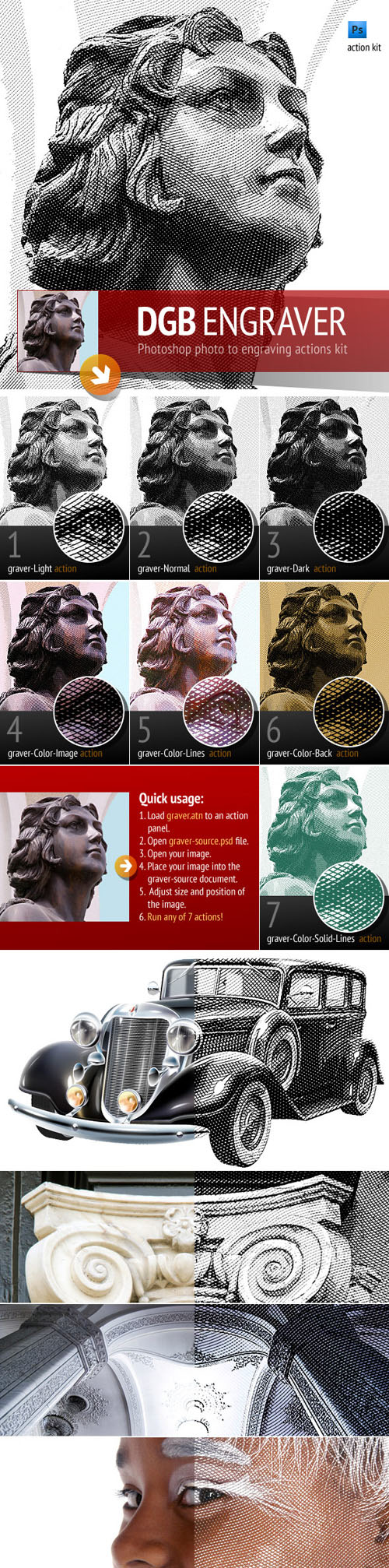 GraphicRiver - Engrave Photoshop Actions