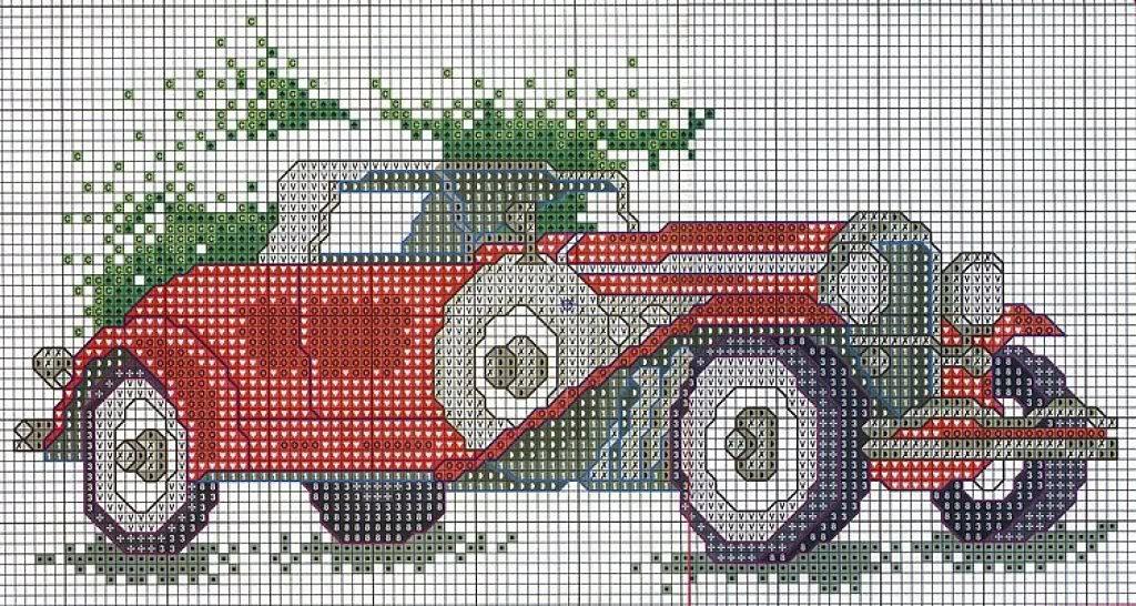 Вышивки крестом машины схемы