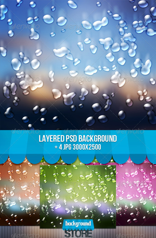 GraphicRiver - Water Drops Backgrounds