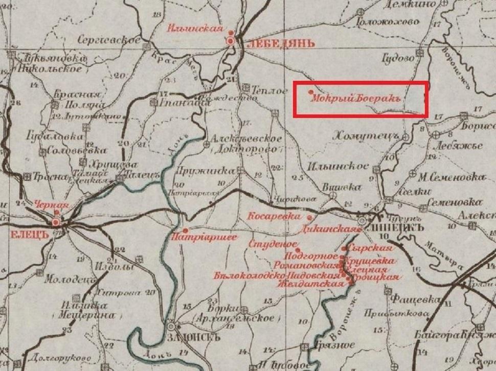 Карта Елатомского Уезда