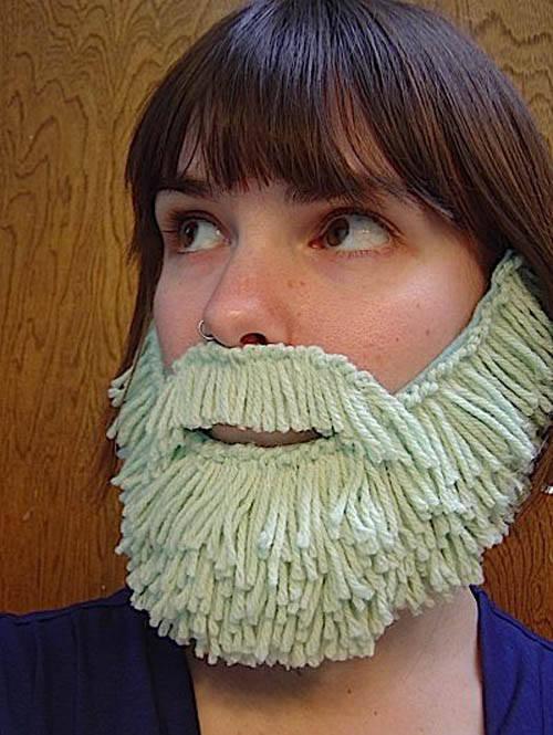 Борода своими руками из пряжи