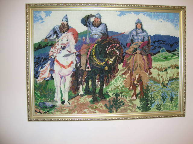 Картина «три богатыря» 61х42