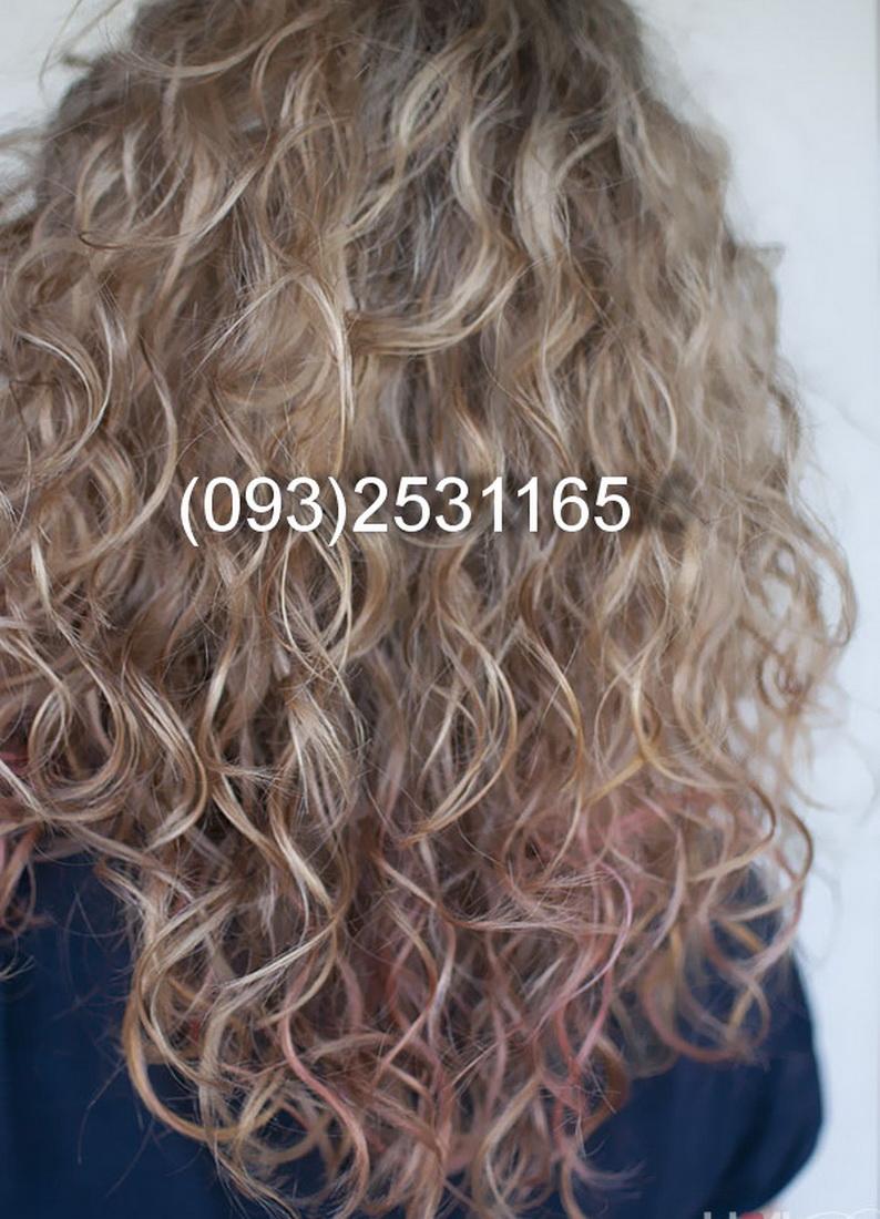 Химическая завивка волос и мелирование