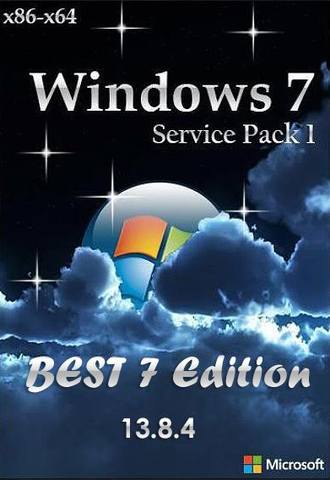 Windows 7SP1 BEST 7 Edition Release v.13.8.4 x86/x64 (2013)