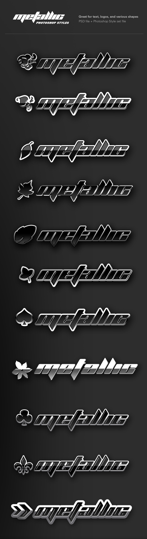 Metallic Styles for Photoshop