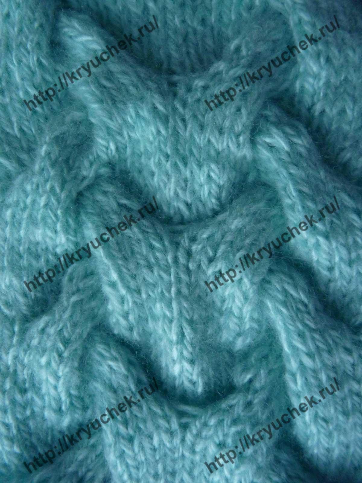 Королевская коса спицами схема: описание вязания 53