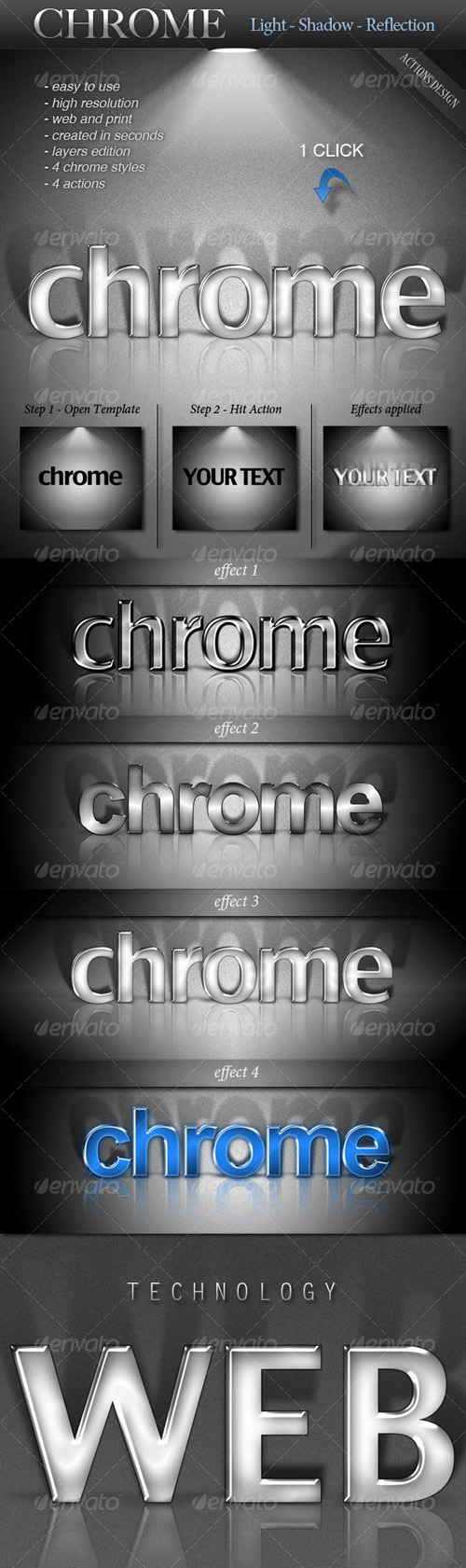 GraphicRiver - CHROME - Light, Shadow, Reflection