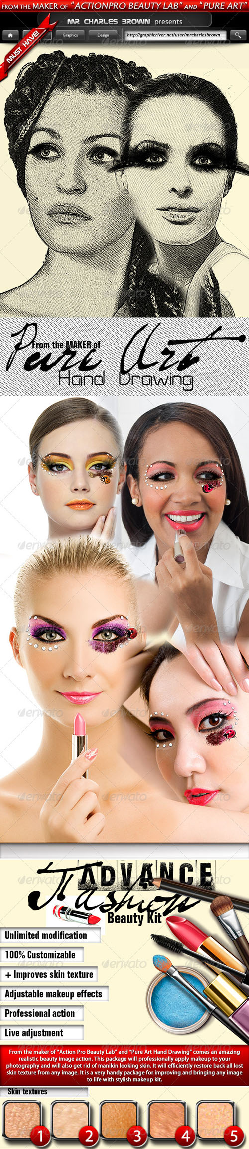 GraphicRiver - Advance Beauty Fashion Kit for Photoshop