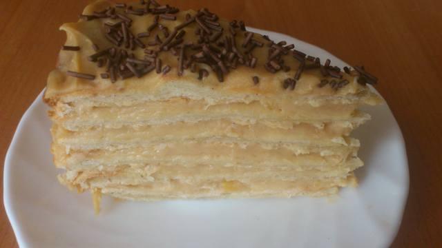 Торт наполеон рецепт в домашних условиях со сметанным кремом