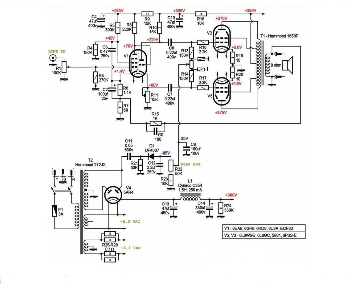 Унч ламп двухтактный на 6п44с схема
