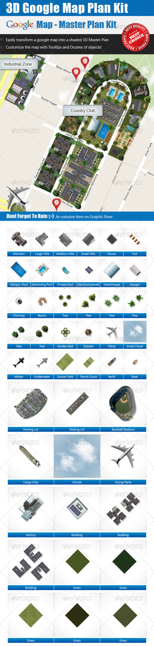 GraphicRiver - 3D Google Map - Master Plan Kit