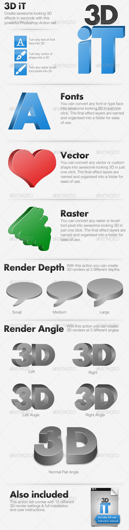 GraphicRiver - 15 3D Rendering Actions for Photoshop