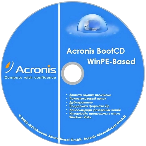 Acronis BootCD WinPE-Based by KpoJIuK (ATIH 17.0.0.6614 Premium + ADDH 11.0.0.2343) (2014) Русский