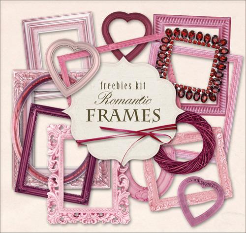 Scrap Set - Collection of Romantic Frames