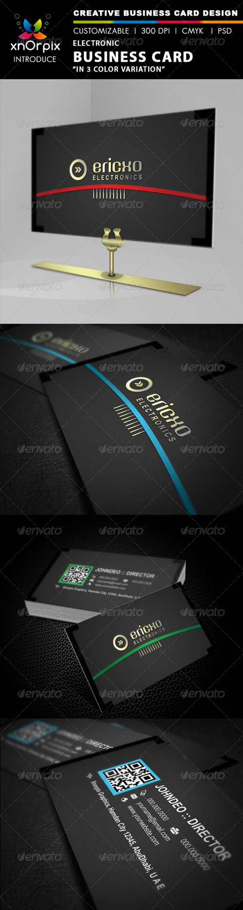 GraphicRiver - Electro Business Card