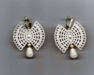серьги Бабочки (славянка)-2 001-3