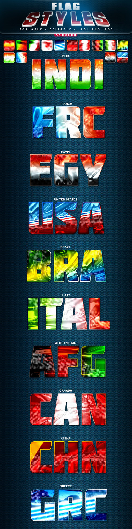 GraphicRiver - Flag Styles for Photoshop