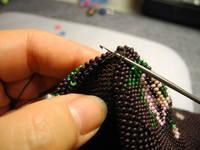 Бисер для вязания спицами Тапочки