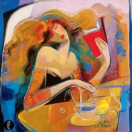 (Ирина Вишневская) Девушка с книгой. Очень интересная петербургская художница