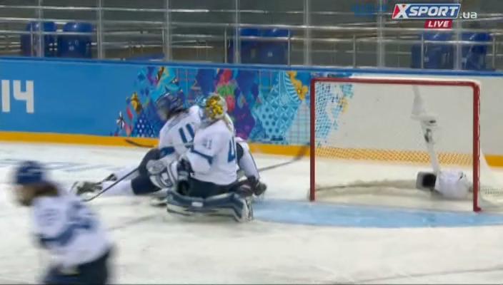 XXII Зимние Олимпийские игры. Сочи. Хоккей. Женщины. Группа А. 1-й тур. США - Финляндия (эфир от 08.02.2014) IPTVRip