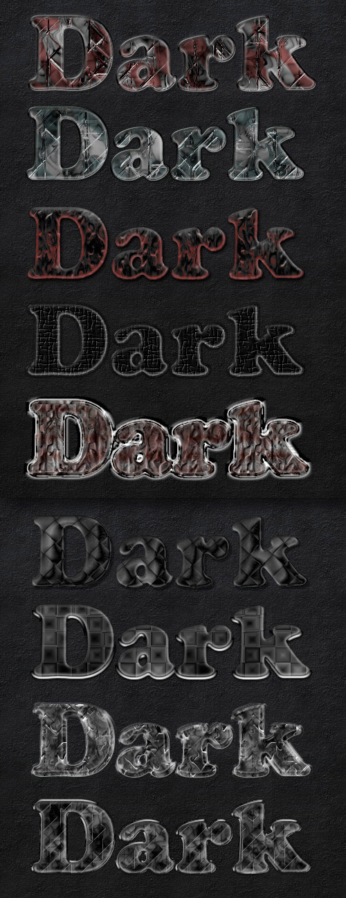 Dark Photoshop Styles