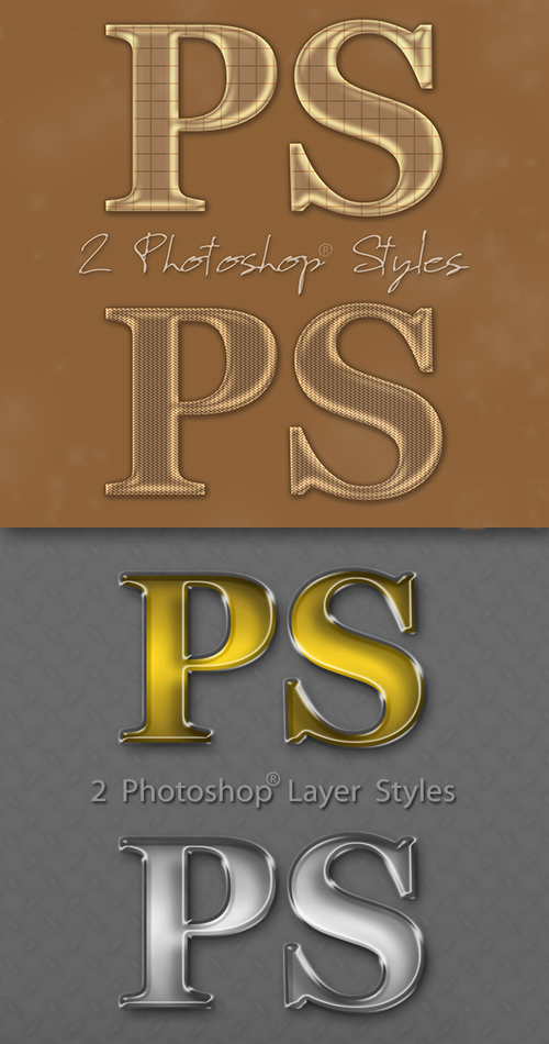 Golden and Silver Photoshop Styles