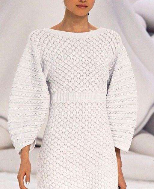 вязаные платья спицами 2. Comment on Красивое вязаное платье Шанель